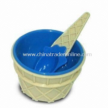 PP Ice Cream Bowl with Spoon, Customized Specifications are Welcome