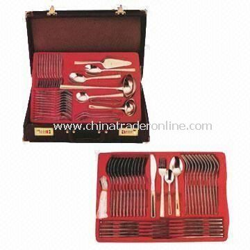 Stainless Steel Flatware Set with Specialty Protective Packing, Available in Gold Plating