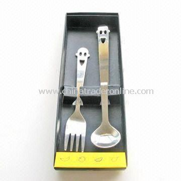 Tableware Set, Made of Stainless Steel, Customized Logos and Designs Welcomed from China