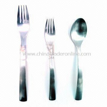 Tableware Set, Made of Stainless Steel, Various Shapes and Styles Available