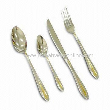 Tableware Set, Made of Stainless Steel and Plastic Materials, Customized Logos Welcomed