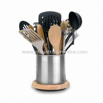 20-piece Kitchen Utensil Set with Premium Quality Stainless Steel from China