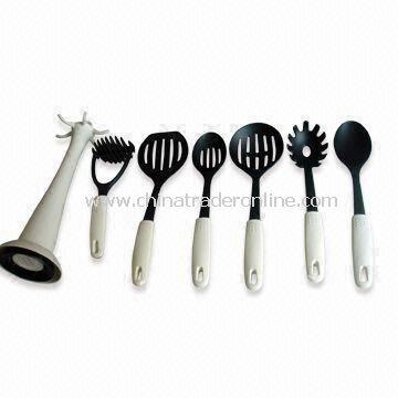 7-piece Nylon Kitchen Utensil Set/Kitchen Tools/Cook Tools, for Promotional Gifts, FDA, LFGB Marked