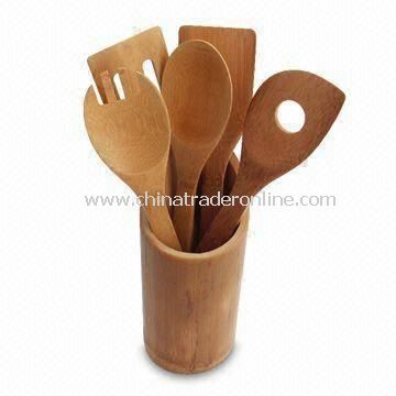 Bamboo Dinnerware/Utensil Set/Cooks Tools, Available in Natural Color, Eco-friendly from China