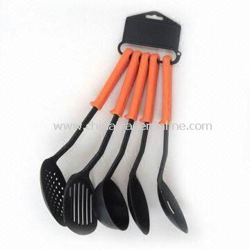 Nylon Utensil Set, Includes Skimmer, Ladle, Spoon, and Turner