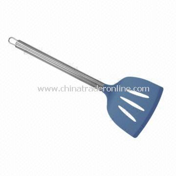 Silicone Slotted Turner with Stainless Steel Handle