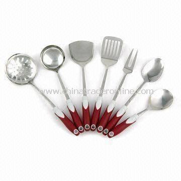 Utensil Set, Made of SS 201, with PP Handle
