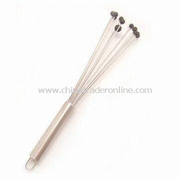 Whisk, Made of 430 Stainless Steel, with Nylon Dot