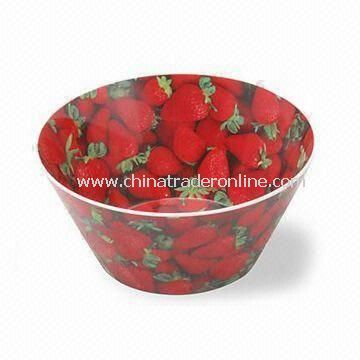 100% Melamine Salad Bowl, Customized Designs and Sizes are Accepted