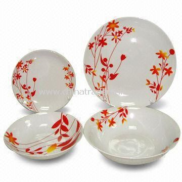 19-piece Porcelain Dinner Set, Includes Salad Bowl and Soup Plate
