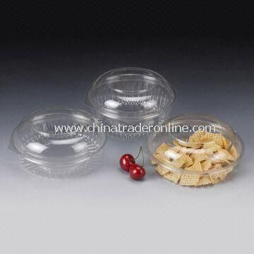 20/24/32oz Disposable Salad Bowl with Dome Lid, Made of PET, Customized Designs are Accepted from China