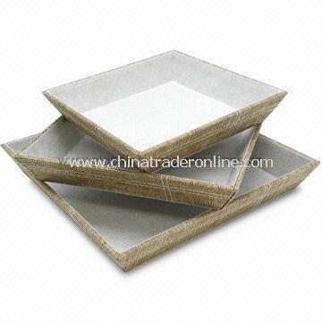 3-piece Valet Set, Made of Linen Material