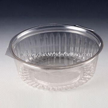 32oz Disposable Salad Bowl with Flat Lid, Made of PET Material, Customized Designs are Welcome