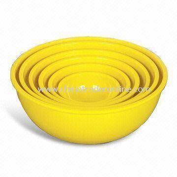 6 Pieces Serving Bowl Set, Made of Melamine, Available in Several Colors