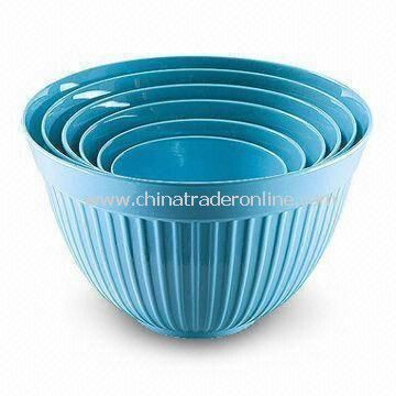 Breakfast Bowl Set, Made of Melamine, Customized Colors, Designs, and Sizes are Accepted