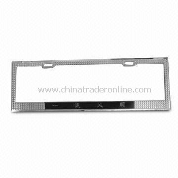 Car License Plate with Spray Oil Surface or Chrome, Available in Silver Color
