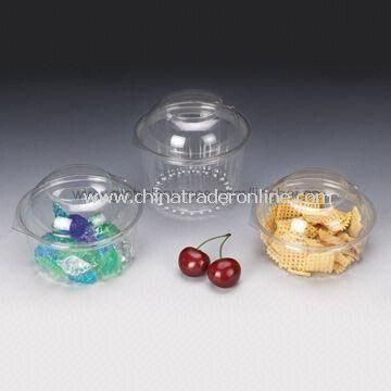 Disposable Salad Bowls with Dome Lid, 8/12/16oz, Made of PET Material, Customized Designs Accepted from China