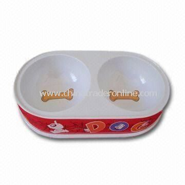 Pet Bowl, Customized Logos are Welcome, Made of PP and PC Materials, Suitable for Cats and Dogs