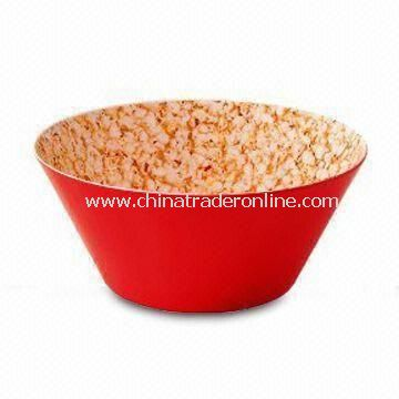 Popcorn Bowl in 2 Tone, Made of 100% Melamine, Customized Designs are Accepted