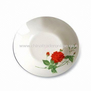 Porcelain Plate and Mug, Various Sizes are Available, FDA Certified