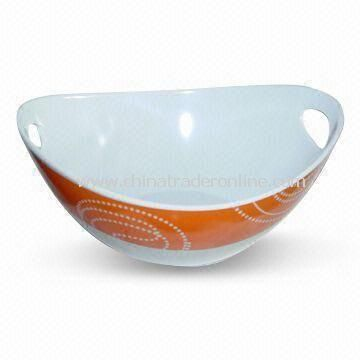 Salad Bowl, Made of 100% Melamine, Customized Colors, Designs, and Sizes are Accepted