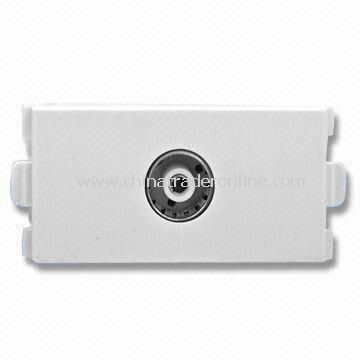 Wall Plate Modular with TV and IEC Female Connector, Made of Plastic