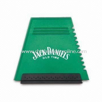 Ice Scraper with Waterproof Surface and Fluff Interior, Available in Various Colors
