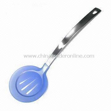 Skimmer with Silicone Head, Stainless Steel Handle, Scratch and Melt-proof