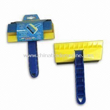 3-in 1 Magic Ice Scraper, Made of PP, Sponge, Scouring Pad and Rubber, Measures 14cm