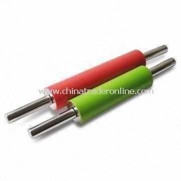 Nonstick Rolling Pins with Stainless Steel Handle, Made of Silicone, Various Colors are Available