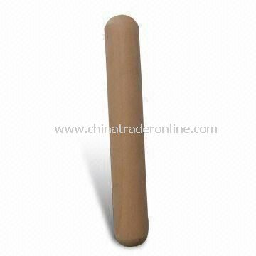 Wooden Rolling Pin, Made of Lotus Wood, Measures 19 x 3cm, Suitable for One Hand Rolling