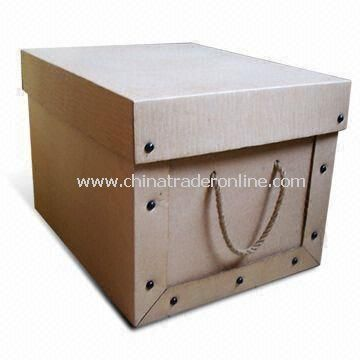 Corrugated Board Storage Box, Eco-friendly, Customized Styles are Accepted