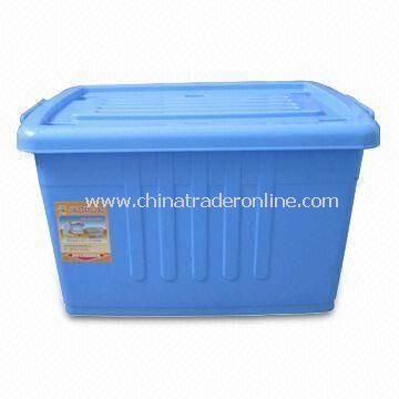 Plastic Household Storage Container, Available in Blue Color