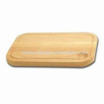 Rubber Wood Cutting Board, 36 x 27.5 x 2cm