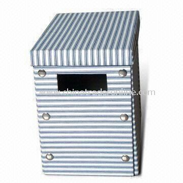 Storage Box, Made of Canvas/Grey Board, Various Colors are Available
