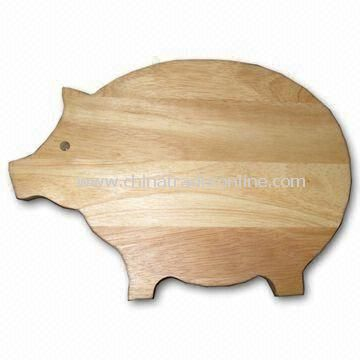 Swine-shaped Wooden Cutting Board, Made in Vietnam, Customized Specifications are Welcome