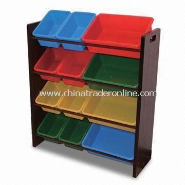 Toy Storage, Made of MDF with Paper, Available in Dark brown Color, Size 86.5 x 29 x 78cm