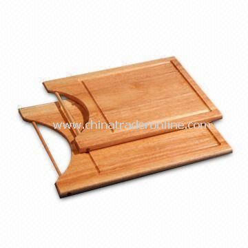 Wooden Cutting Boards with Rod for Easy Handling and Groove