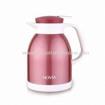 Durable Vacuum Pitcher Euro Coffee Bottle with 54oz Capacity, Made of 18/8 Stainless Steel