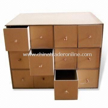 Grey Board Storage Box with Kraft Paper, Customized Designs are Accepted