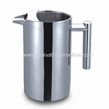 Jug, Double Wall Stainless Steel Water Pitcher, 1L Capacity