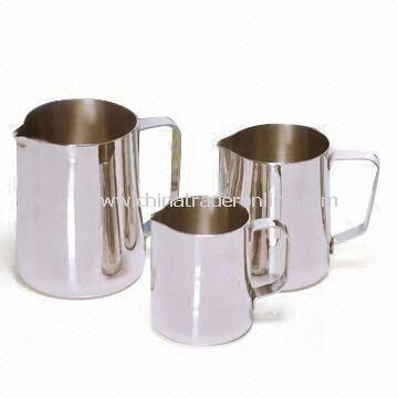 Milk Jug with Shiny Finish, Made of Stainless Steel