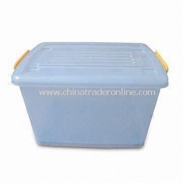 PP Household Storage Container in Clear or Transparent Color, Measures 40 x 29 x 20.5cm