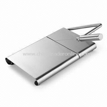 Stainless Steel Cheese Cutter Slicer, Measures 24 x 23 x 2.2cm, with 377g Weight
