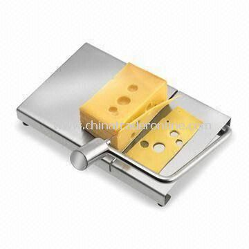 Stainless Steel Cheese Cutter with Matte Finish, 0.5mm Thickness, Measures 27.3 x 16 x 24cm