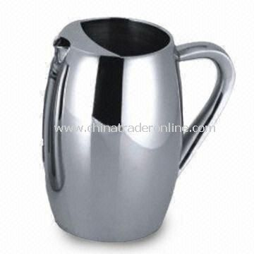 Stainless Steel Water Pitcher, Sizes of 1L and 0.8L
