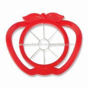 Useful Red Color Apple Cutter, Made of ABS + 430 Stainless Steel Material, Sized 17.3 x 15cm