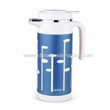 Vacuum Pitcher Stainless Steel Euro Coffee Bottle Carafe with 1L Capacity, Measures 10 x 23.5cm