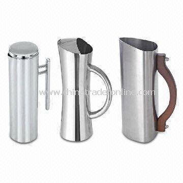 Water Pitcher/Stainless Steel Jug with Capacity of 1,500mL