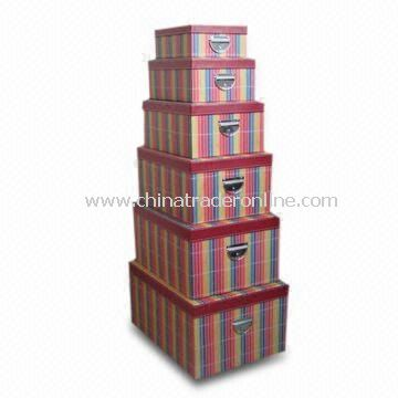 Woven Paper Storage Box in Fashionable Design, Available in Various Designs, OEM Orders are Accepted